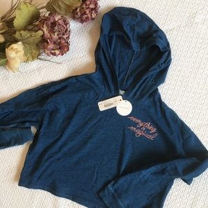 NWT Gymboree Pullover Half Shirt Hoodie